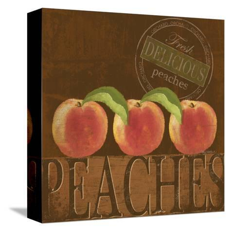 Delicious Peach-Kathy Middlebrook-Stretched Canvas Print