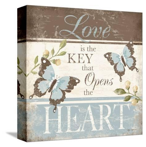 Love Is the Key-Kathy Middlebrook-Stretched Canvas Print