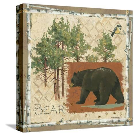 Black Bear-Anita Phillips-Stretched Canvas Print