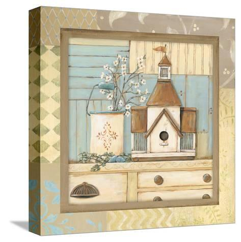 Birdhouse II-Jo Moulton-Stretched Canvas Print