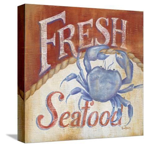 Fresh Seafood-Kim Lewis-Stretched Canvas Print