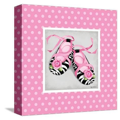 Wild Child Ballet Slipper-Kathy Middlebrook-Stretched Canvas Print