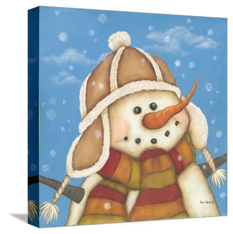 Snowman I-Kim Lewis-Stretched Canvas Print