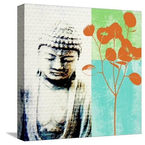 Buddha II-Linda Woods-Stretched Canvas Print