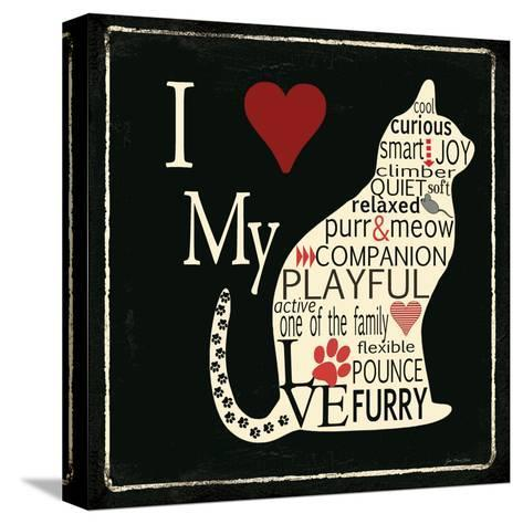 I Love My Cat-Jo Moulton-Stretched Canvas Print