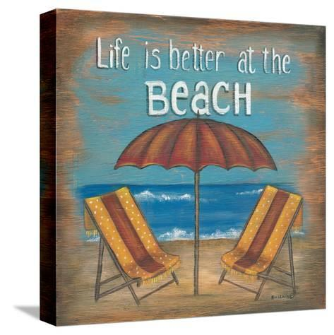 Life Is Better-Kim Lewis-Stretched Canvas Print