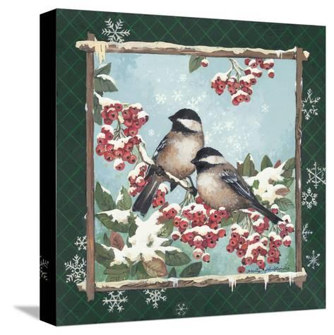 Winter Chickadees-Anita Phillips-Stretched Canvas Print