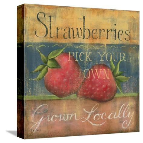 Strawberries-Kim Lewis-Stretched Canvas Print