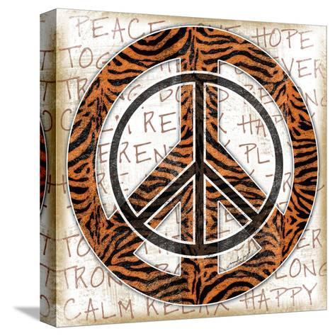Peace Tiger-Jennifer Pugh-Stretched Canvas Print