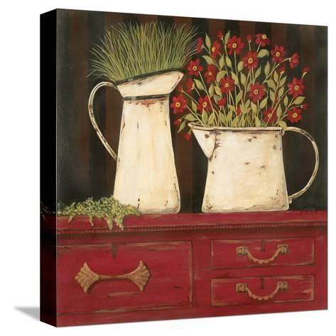 The Red Cupboard-Jo Moulton-Stretched Canvas Print