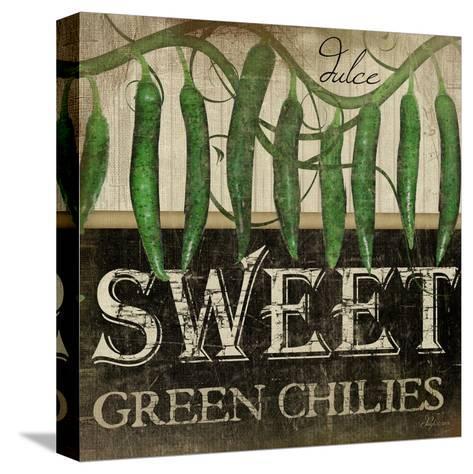Sweet Green Chilies-Jennifer Pugh-Stretched Canvas Print