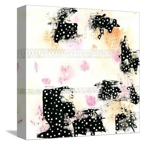 Pink and Black-Sarah Ogren-Stretched Canvas Print