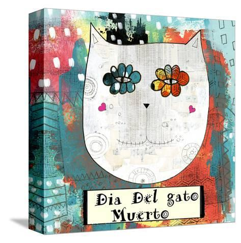Day of the Dead Cat-Sarah Ogren-Stretched Canvas Print