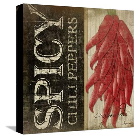 Spicy Chili Peppers-Jennifer Pugh-Stretched Canvas Print