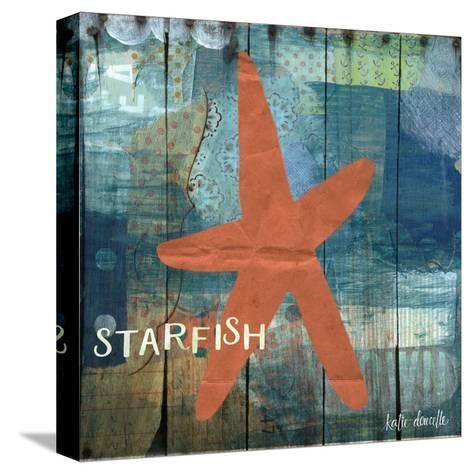 Starfish Collage-Katie Doucette-Stretched Canvas Print