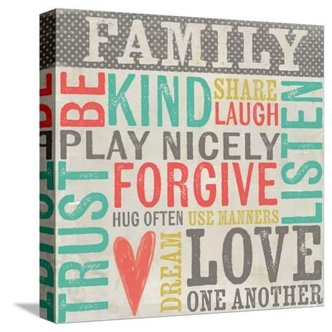Family Rules-Katie Doucette-Stretched Canvas Print