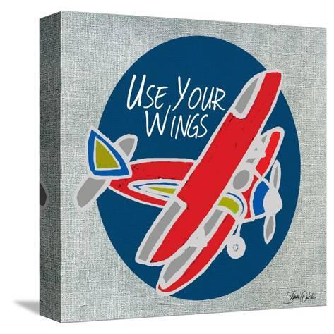 Airplane One-Shanni Welsh-Stretched Canvas Print
