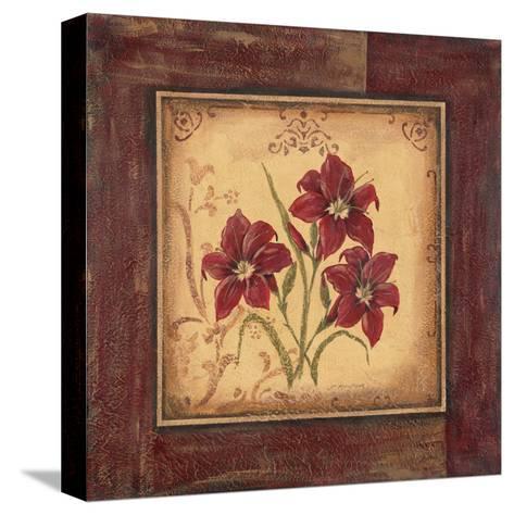 Crimson III-Jo Moulton-Stretched Canvas Print