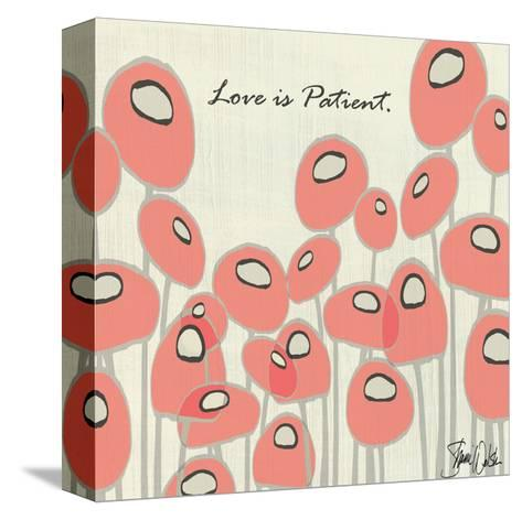 Love Is Patient Poppies-Shanni Welsh-Stretched Canvas Print