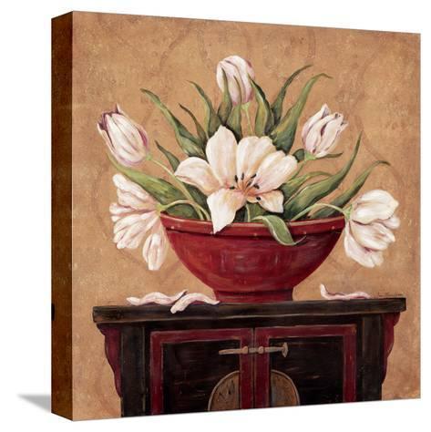 Zen Tulips-Jo Moulton-Stretched Canvas Print