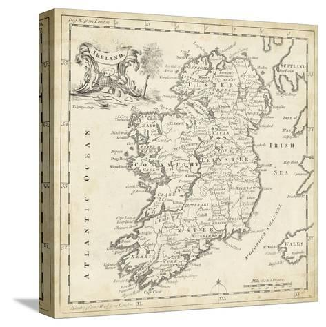 Map of Ireland-T^ Jeffreys-Stretched Canvas Print