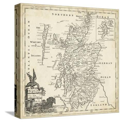 Map of Scotland-T^ Jeffreys-Stretched Canvas Print