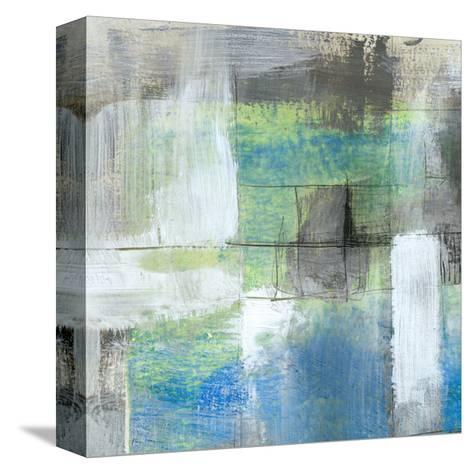White on Blue I-Jennifer Goldberger-Stretched Canvas Print