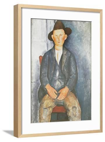 The Little Peasant-Amedeo Modigliani-Framed Art Print