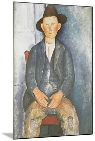 The Little Peasant-Amedeo Modigliani-Mounted Giclee Print
