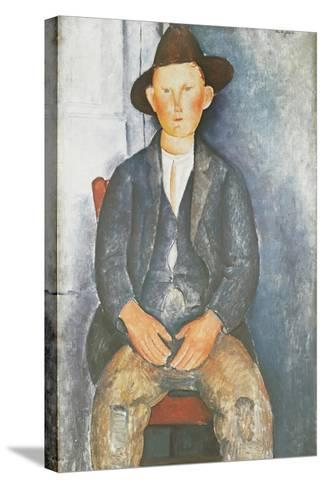 The Little Peasant-Amedeo Modigliani-Stretched Canvas Print