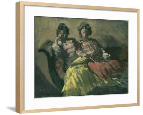 Two Women on a Sofa - Le Tose-Walter Richard Sickert-Framed Art Print
