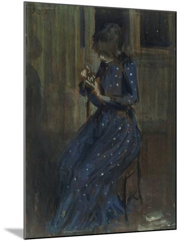 Girl in a Blue Dress-Philip Wilson Steer-Mounted Giclee Print