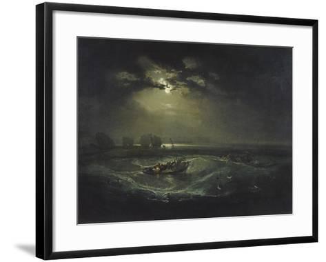 Fishermen at Sea-J^ M^ W^ Turner-Framed Art Print