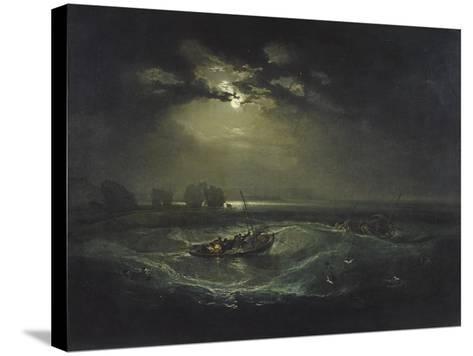 Fishermen at Sea-J^ M^ W^ Turner-Stretched Canvas Print