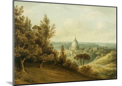 St Peter's from the Villa Milleni Near Rome-John `Warwick' Smith-Mounted Giclee Print