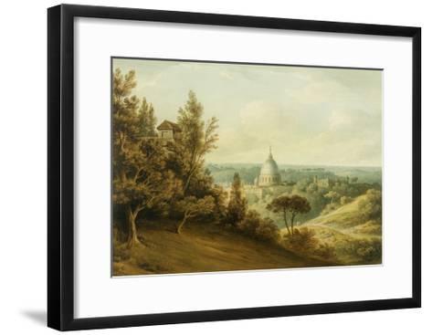 St Peter's from the Villa Milleni Near Rome-John `Warwick' Smith-Framed Art Print
