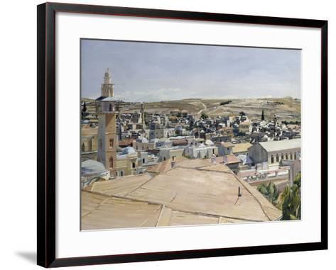 Jerusalem, Looking to Mount Scopus-David Bomberg-Framed Art Print