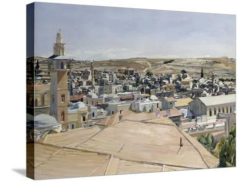 Jerusalem, Looking to Mount Scopus-David Bomberg-Stretched Canvas Print