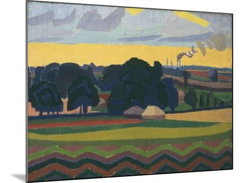 The Beanfield, Letchworth-Spencer Gore-Mounted Giclee Print