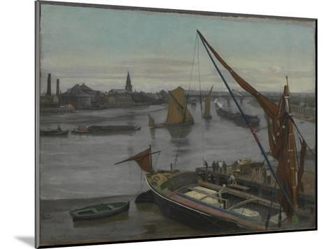 Battersea Reach-Walter Greaves-Mounted Giclee Print