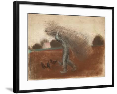 Peasant with a Bundle of Sticks-Julio González-Framed Art Print