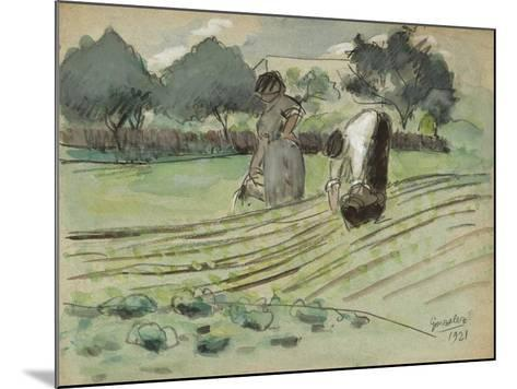 Transplanting and Watering-Julio González-Mounted Giclee Print