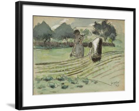 Transplanting and Watering-Julio González-Framed Art Print