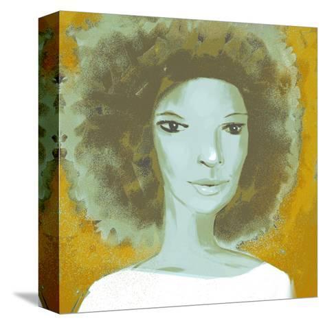 Female Portrait Color Series, No.2--Stretched Canvas Print