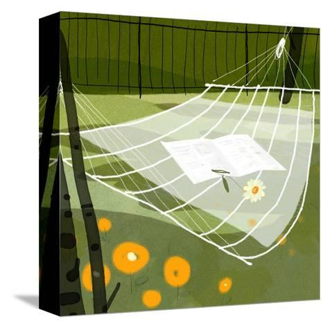 Hammock in the Breeze--Stretched Canvas Print