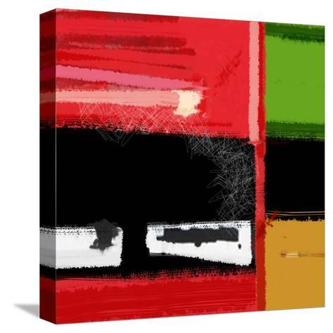 Red and Green Square-NaxArt-Stretched Canvas Print