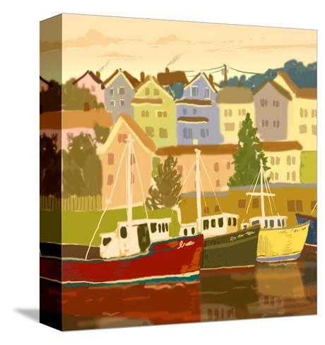 Close Up of Boats and Houses--Stretched Canvas Print