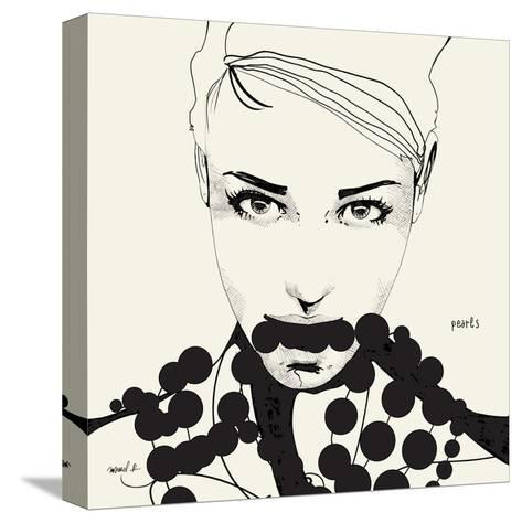 Pearls-Manuel Rebollo-Stretched Canvas Print