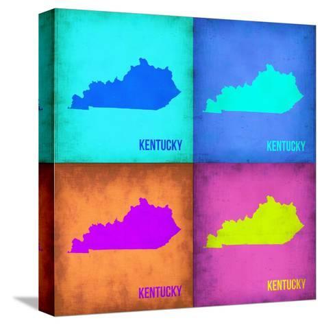 Kentucky Pop Art Map 1-NaxArt-Stretched Canvas Print