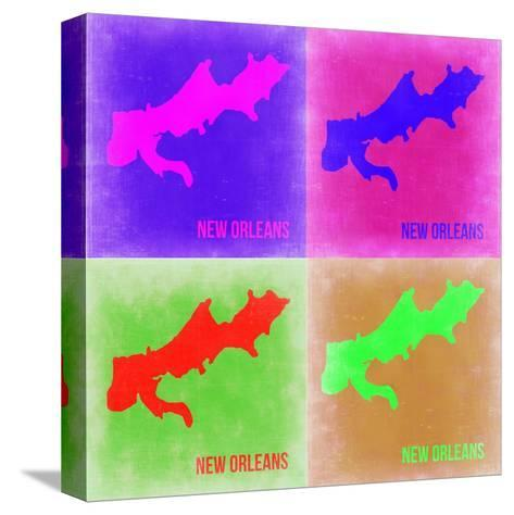 New Orleans Pop Art Map 2-NaxArt-Stretched Canvas Print